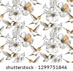 seamless pattern. exotic... | Shutterstock .eps vector #1299751846