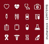 medical icons with red... | Shutterstock .eps vector #129975998