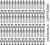 tribal vector art pattern aztec ... | Shutterstock .eps vector #1299762883