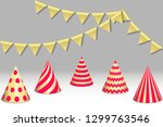 bunting flags and birthday... | Shutterstock .eps vector #1299763546