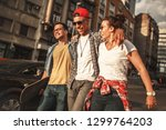 group of friends hangout at the ... | Shutterstock . vector #1299764203