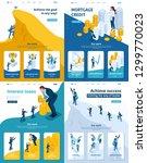 set template landing page  app... | Shutterstock .eps vector #1299770023