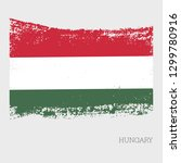 hungary flag vector icon in... | Shutterstock .eps vector #1299780916