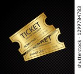 two vector tickets and coupons... | Shutterstock .eps vector #1299784783