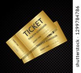 two vector tickets and coupons... | Shutterstock .eps vector #1299784786