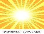 pop art yellow background.... | Shutterstock .eps vector #1299787306