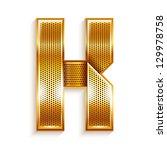 font folded from a metallic... | Shutterstock . vector #129978758