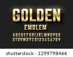golden emblem style font ... | Shutterstock .eps vector #1299798466