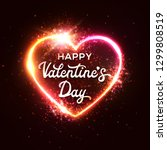happy valentine's day greeting... | Shutterstock .eps vector #1299808519