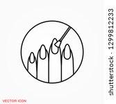 nail icon logo  illustration ... | Shutterstock .eps vector #1299812233
