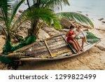 honeymoon trip. wedding travel. ... | Shutterstock . vector #1299822499