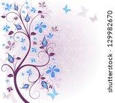 spring gentle floral easter... | Shutterstock .eps vector #129982670
