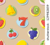 slot machine icons pattern... | Shutterstock .eps vector #129982859