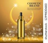 cosmetic realistic 3d golden... | Shutterstock .eps vector #1299830683