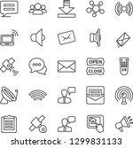 thin line icon set   satellite... | Shutterstock .eps vector #1299831133