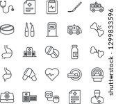 thin line icon set   medical... | Shutterstock .eps vector #1299833596