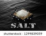 sea coarse salt close up on a... | Shutterstock . vector #1299839059