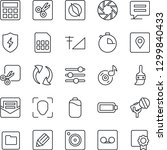 thin line icon set   microphone ... | Shutterstock .eps vector #1299840433