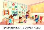 vector montessori room with... | Shutterstock .eps vector #1299847180