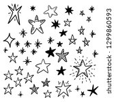 hand drawn star doodles. | Shutterstock .eps vector #1299860593