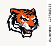 head tiger vector illustration | Shutterstock .eps vector #1299865156