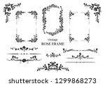 black elegant elements set of... | Shutterstock .eps vector #1299868273