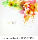 modern design template with... | Shutterstock .eps vector #129987158