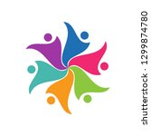 group of people logo icon.... | Shutterstock .eps vector #1299874780