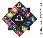 libra zodiac sign astrology... | Shutterstock .eps vector #1299875173