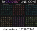 180 trendy gradient style thin... | Shutterstock .eps vector #1299887440