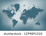 world map paper. map of the... | Shutterstock .eps vector #1299891310