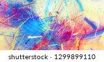 bright artistic splashes on... | Shutterstock . vector #1299899110
