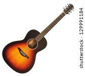 Brown Wooden Acoustic Guitar...