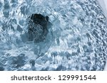 toilet bowl flush. close up. | Shutterstock . vector #129991544