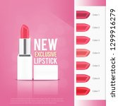 lipstick with different color... | Shutterstock .eps vector #1299916279