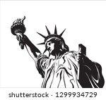 american symbol   statue of...   Shutterstock .eps vector #1299934729