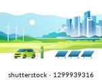 concept of renewable energy.... | Shutterstock .eps vector #1299939316