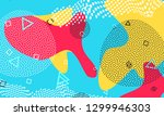 pop art color background.... | Shutterstock .eps vector #1299946303