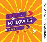 follow us background  vector.... | Shutterstock .eps vector #1299955693