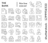 bank thin line icon set ...   Shutterstock .eps vector #1299956533