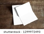 blank portrait mock up paper.... | Shutterstock . vector #1299972493