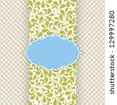 ornate frame for invitation or... | Shutterstock . vector #129997280