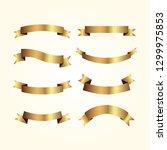 set of golden ribbons vector.   Shutterstock .eps vector #1299975853