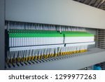 wiring plc control panel with... | Shutterstock . vector #1299977263