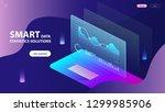 isometric concept of smart data ... | Shutterstock .eps vector #1299985906