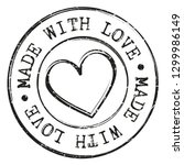 made with love quality stamp... | Shutterstock .eps vector #1299986149