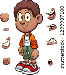 african boy with different... | Shutterstock .eps vector #1299987100