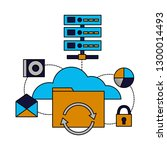 cloud computing database | Shutterstock .eps vector #1300014493