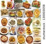 mural of spanish dishes | Shutterstock . vector #130003058