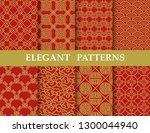 8 different elegant classic... | Shutterstock .eps vector #1300044940